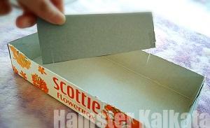 厚紙で仕切りを作る